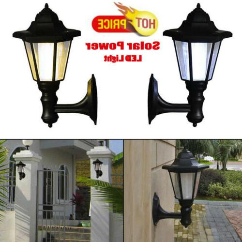 Solar Lights Path Way Wall Landscape Mount Garden Fence Outdoor