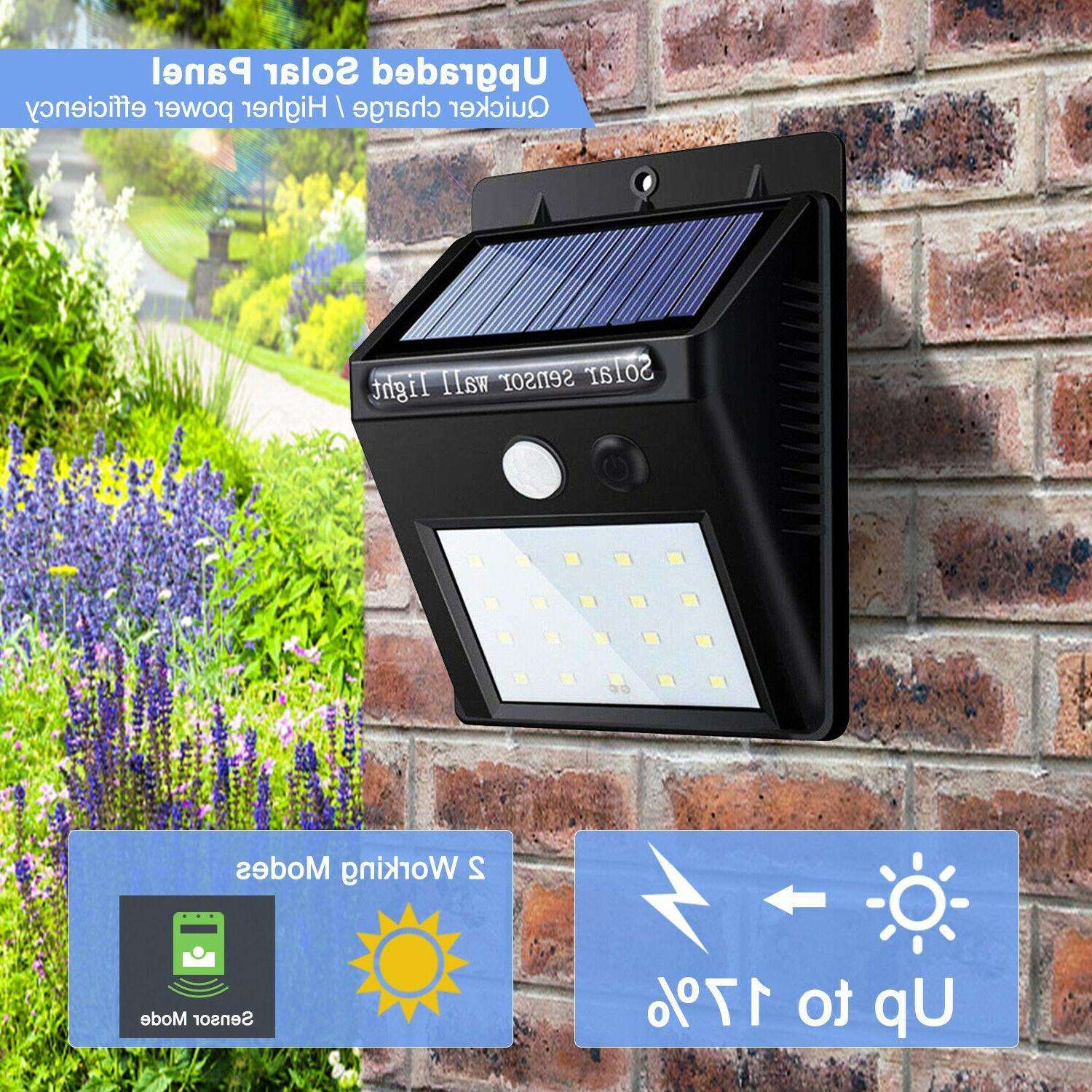 20LED Solar Power Motion Sensor Wall Outdoor Waterproof Lamp