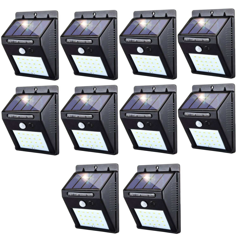 solar power light pir motion sensor garden