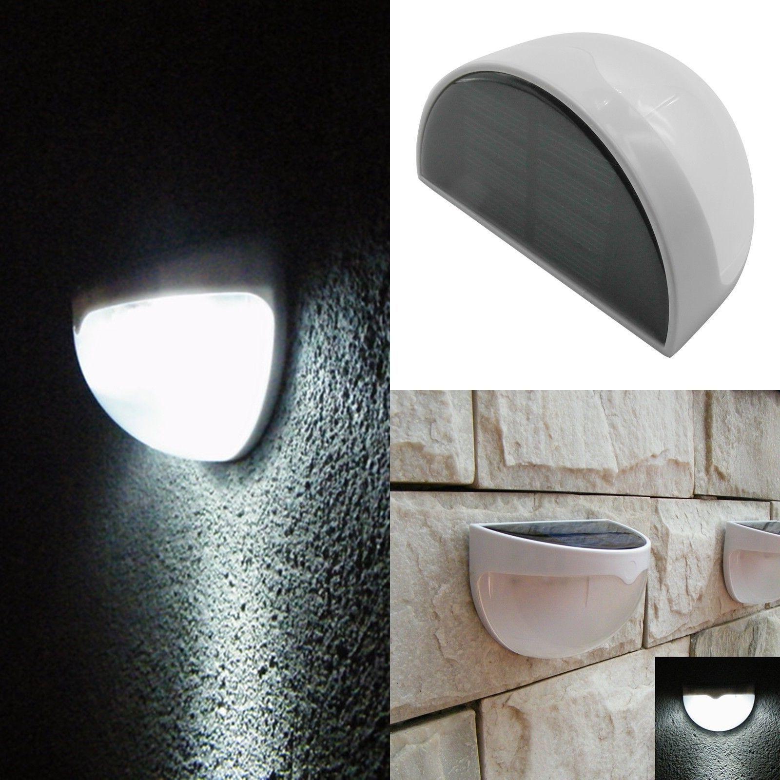 Solar Power 6 LED Outdoor Garden Fence Lamp