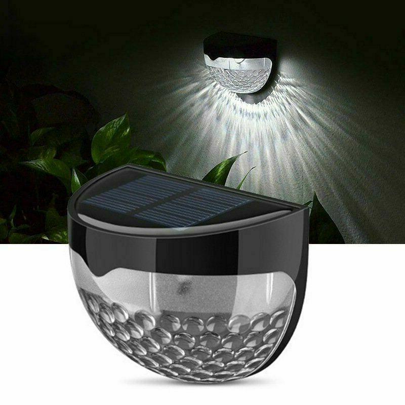 solar power light sensor 6 led wall