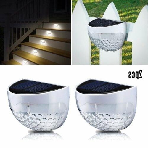 Solar Power LED Outdoor Garden Path Lamp