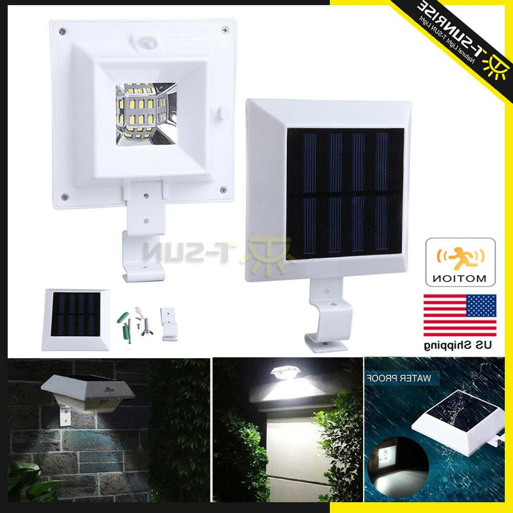 solar power motion sensor lamp outdoor garden