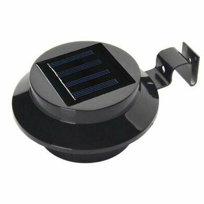 Solar Power Garden Light Gutter Fence 3-LED Wall Bulb Energy-saving