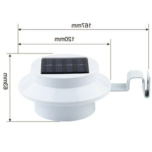 1-4x LED Solar Power Light Outdoor Wall Fence Lights