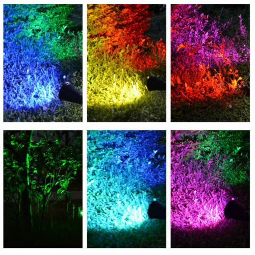 1/2/4PCS Solar Spot Lights Outdoor LED Path Landscape Wall Lamp