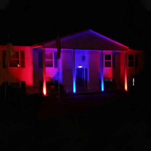 1/2/4PCS Power Spot Lights Outdoor 7 LED Path Lamp