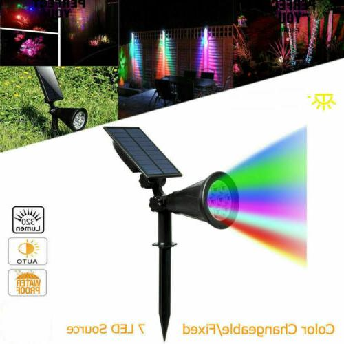 1/2/4PCS Solar Lights 7 LED Landscape Lamp