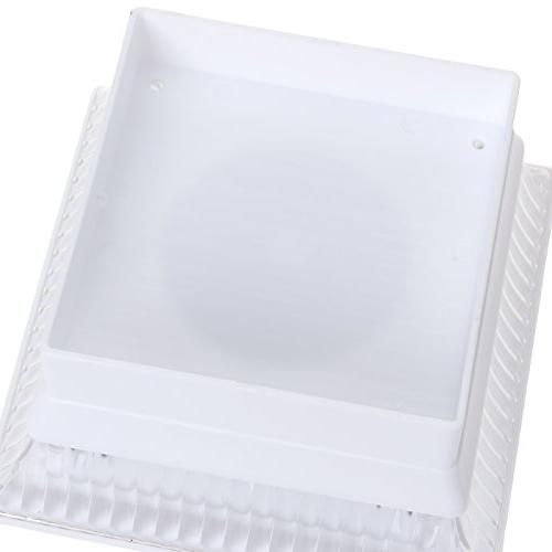 Solar White 4 x Fence Post Light