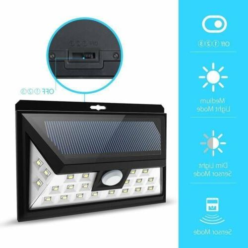 LITOM 24 LED Solar Motion Sensor Light  Outdoor Yard Garden