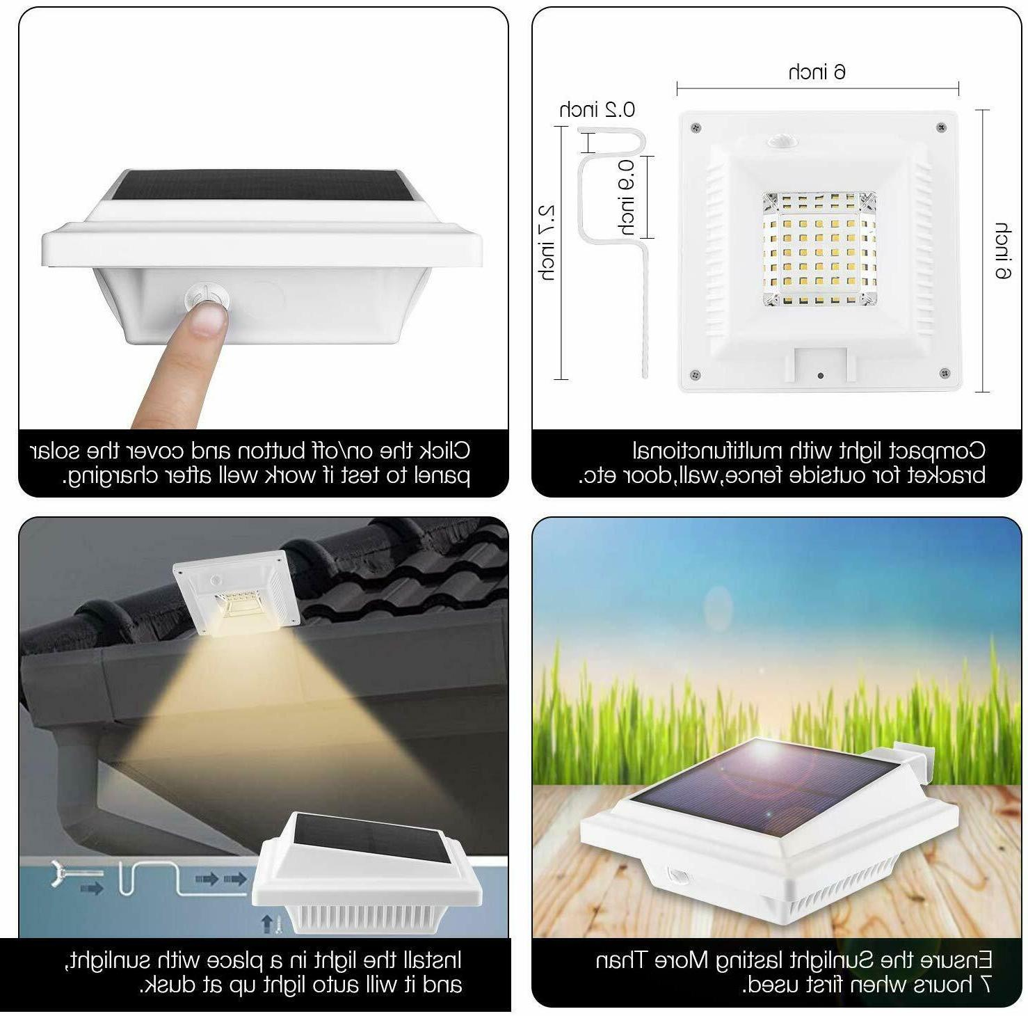 Solar Powered LEDs Fence Light Outdoor Lamp