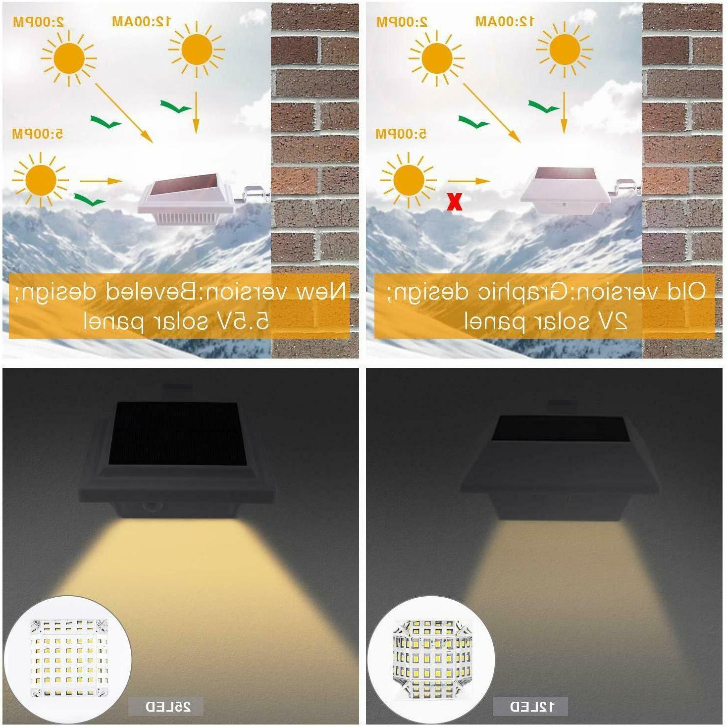 Solar 25 LEDs Fence Gutter Garden Wall Lamp