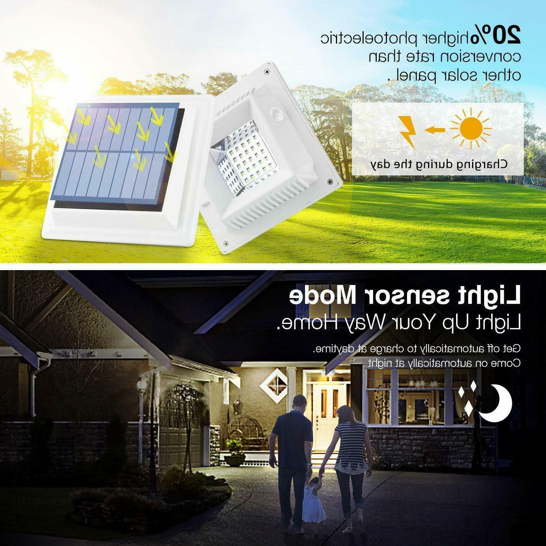 Solar Powered LEDs Fence Garden Yard Lamp