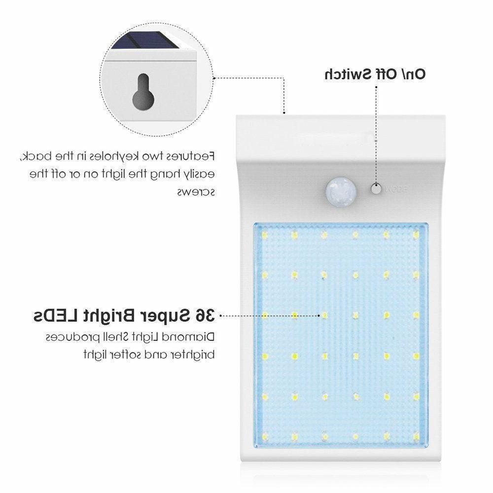 Solar LED Motion Sensor Lamp Outdoor Light Waterproof