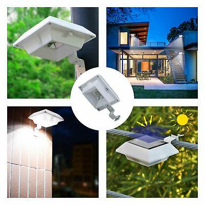Solar Outdoor Yard Wall Fence Pathway Gutter Light