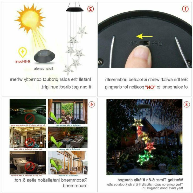 Solar Color LED Wind Lamp