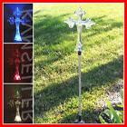 solar powered cross garden yard stake pathway