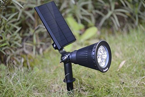 Nekteck Solar Powered Spotlight Outdoor Spot Light for Security, or Wall Mount
