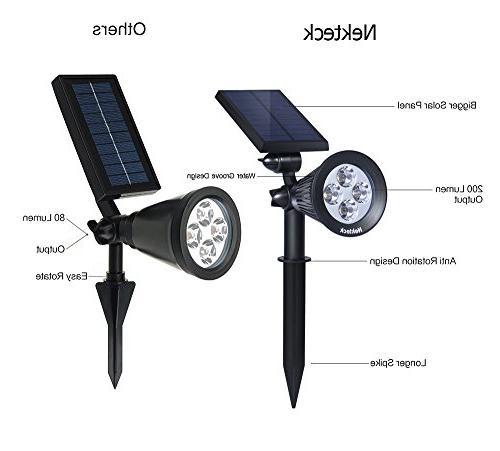 Nekteck Solar Powered Spotlight Light for Security, or Mount