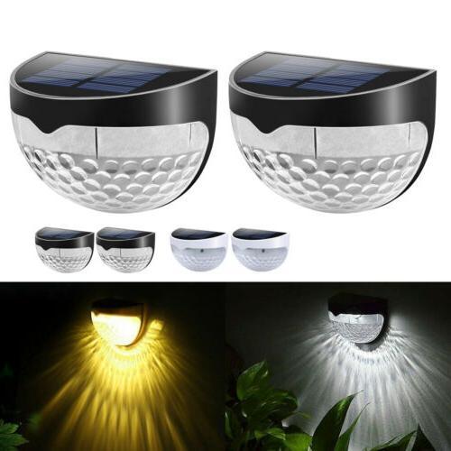 New 6 Powered Gutter Fence Lights Outdoor Garden Waterproof Lamp