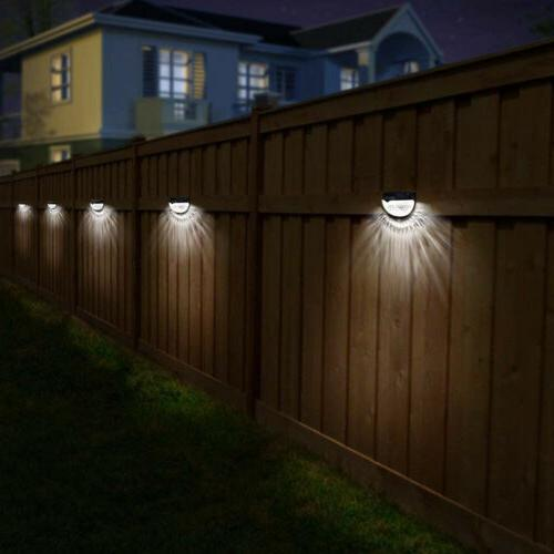 New 6 Solar Powered Gutter Fence Outdoor Lamp
