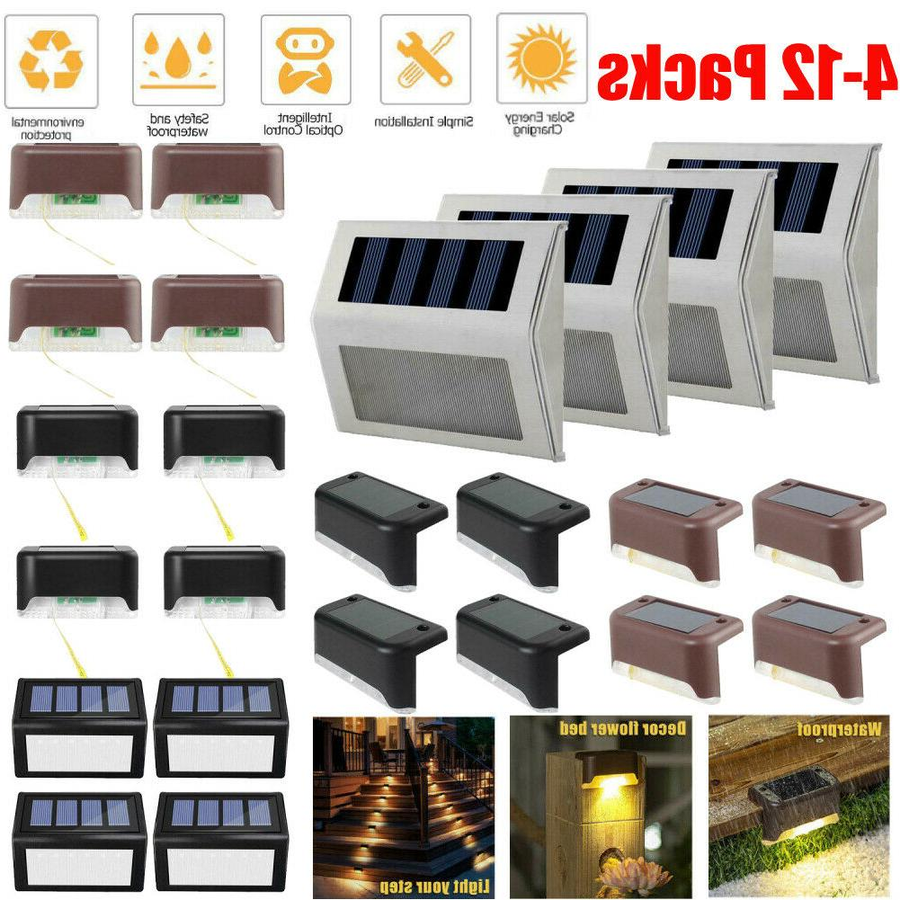 solar powered led deck light outdoor path