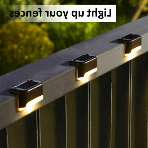 Solar LED Lights Path Stairs Fence