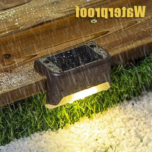 Solar Powered LED Lights Stairs Step Fence Lamps