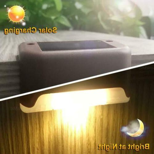 12PCS LED Deck Stairs Fence Lamps Brown