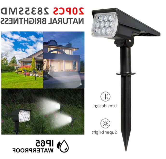 20 led solar spotlight landscape lights outdoor