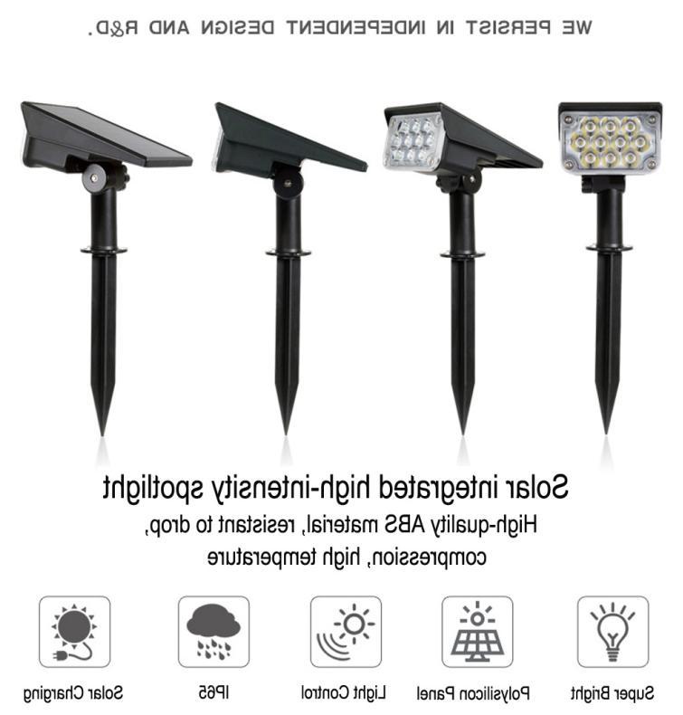 2PACK 20-LED Spotlight Landscape Outdoor Pathway US