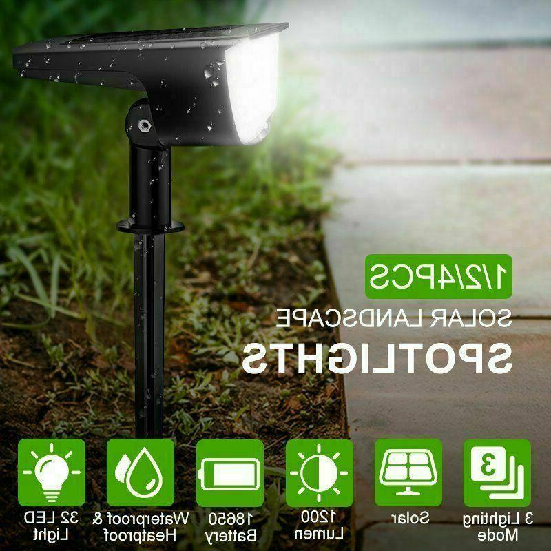 solar powered led light outdoor garden security