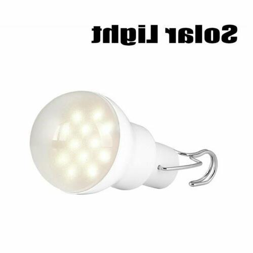 Solar Powered Panel LED Lighting Lights Portable Bulb Outdoor