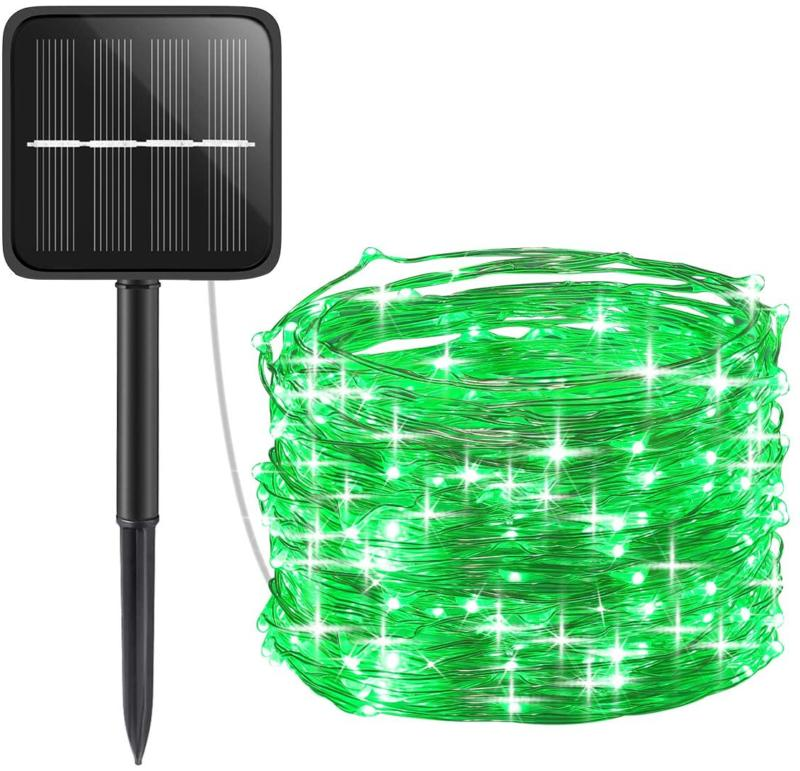 Amir Solar Powered String Lights, Mini 100 Led Copper Wire L