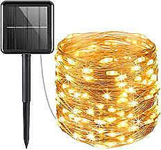 Solar Powered String Lights, Mini 100 LED, Copper Wire, Indo