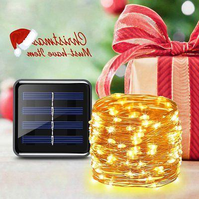 AMIR Solar Powered String Lights, 200 LED Wire 72ft Modes