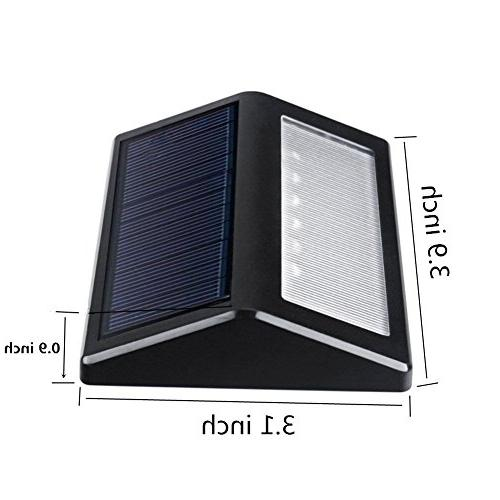Solar ,6 Pack 6 LED Light Garden Path Lamp Lights Fence Lighting