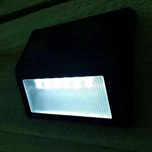 Solar Wall ,6 LED Light Garden Lamp Lights Outdoor Patio Fence Lighting
