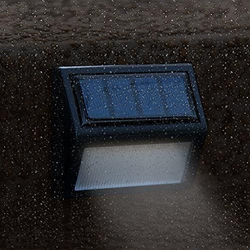 Solar Powered Wall ,6 Solar LED Mount Garden Path Lamp Fence Lighting