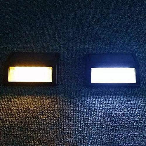 Solar ,6 LED Mount Garden Lamp Lights Gutter Fence Lighting