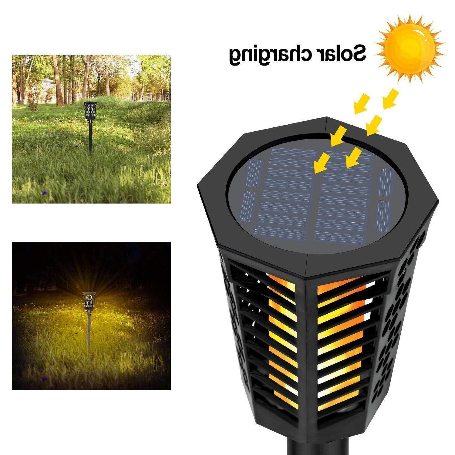 Solar Lights/Dancing Flames Torch- Pack