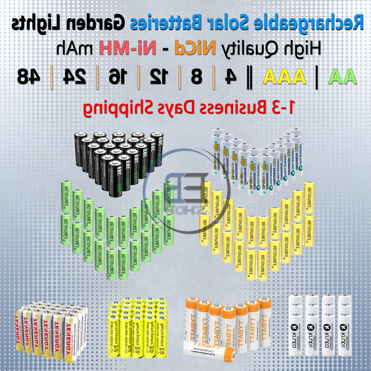 solar rechargeable batteries aa aaa battery 4