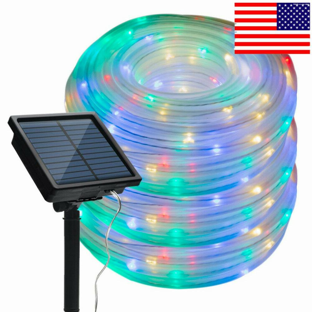 solar powered rope night fairy string twinkle
