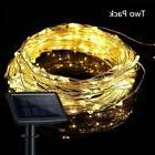 Solar Rope Lights Outdoor Two Pack 100 LED String Warm White