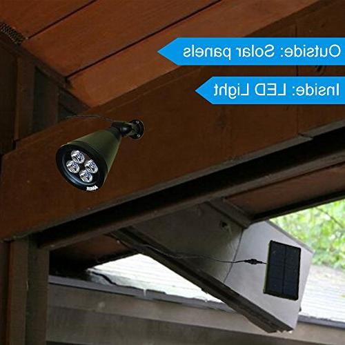 AMIR in Adjustable Outdoor Lighting Spotlight Auto On/ for Yard Garden Driveway Pool