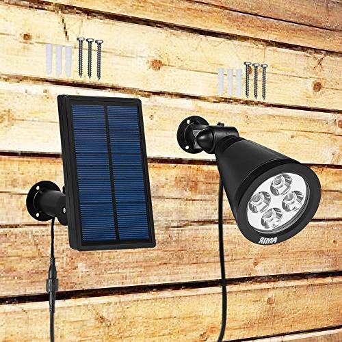 AMIR in 1 180° Adjustable Outdoor Lighting Wall Auto for Yard Pool Patio