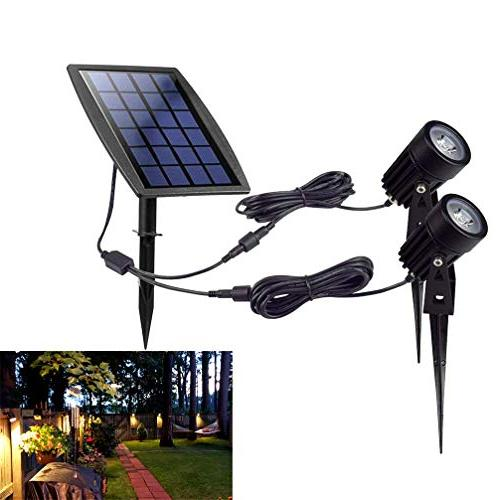 solar spotlight light fixture wall