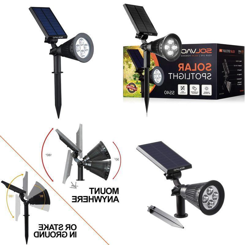 solar spotlight upgraded ultra bright waterproof outdoor