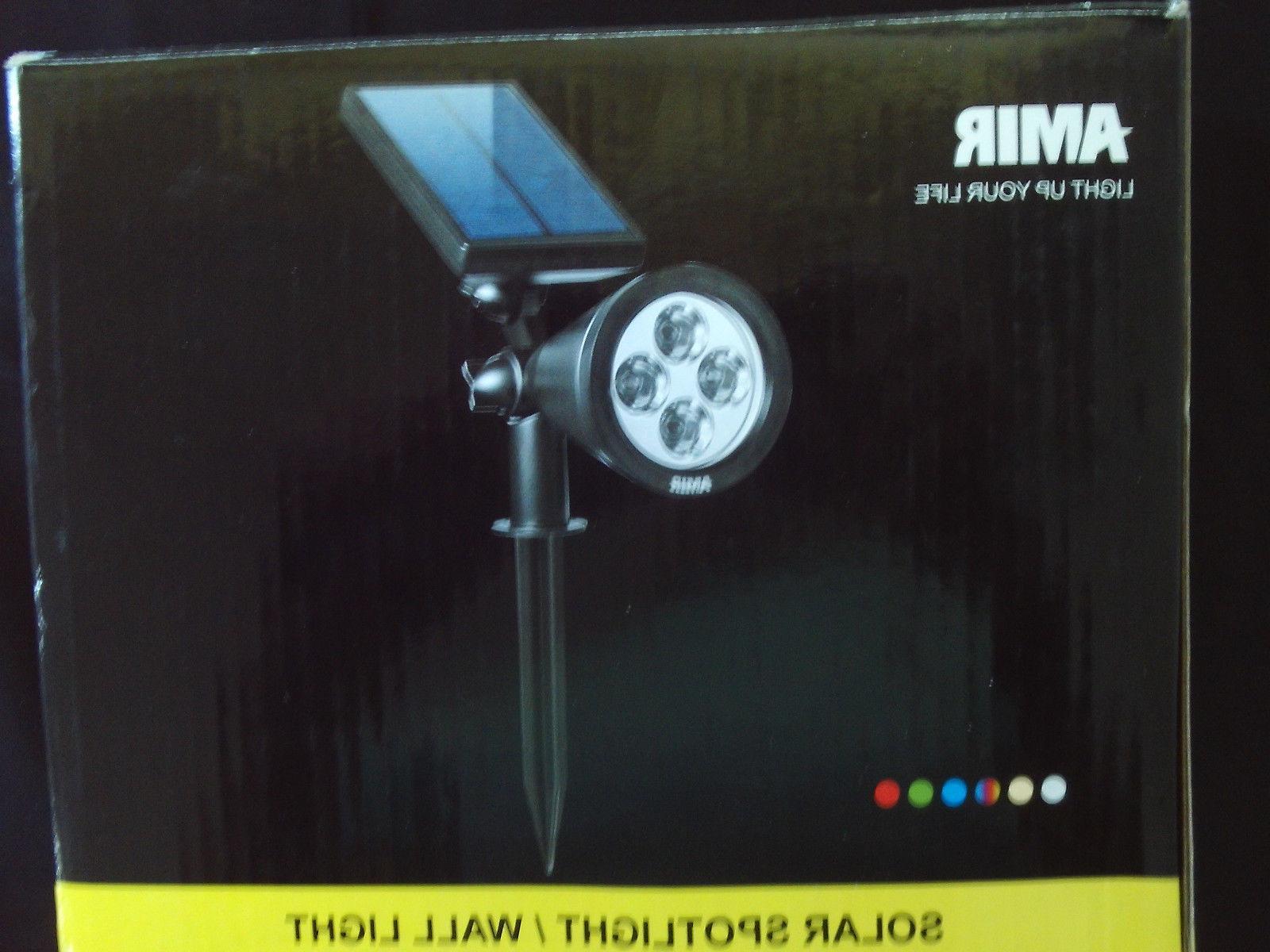 Amir Solar Spotlight/Wall Light / White