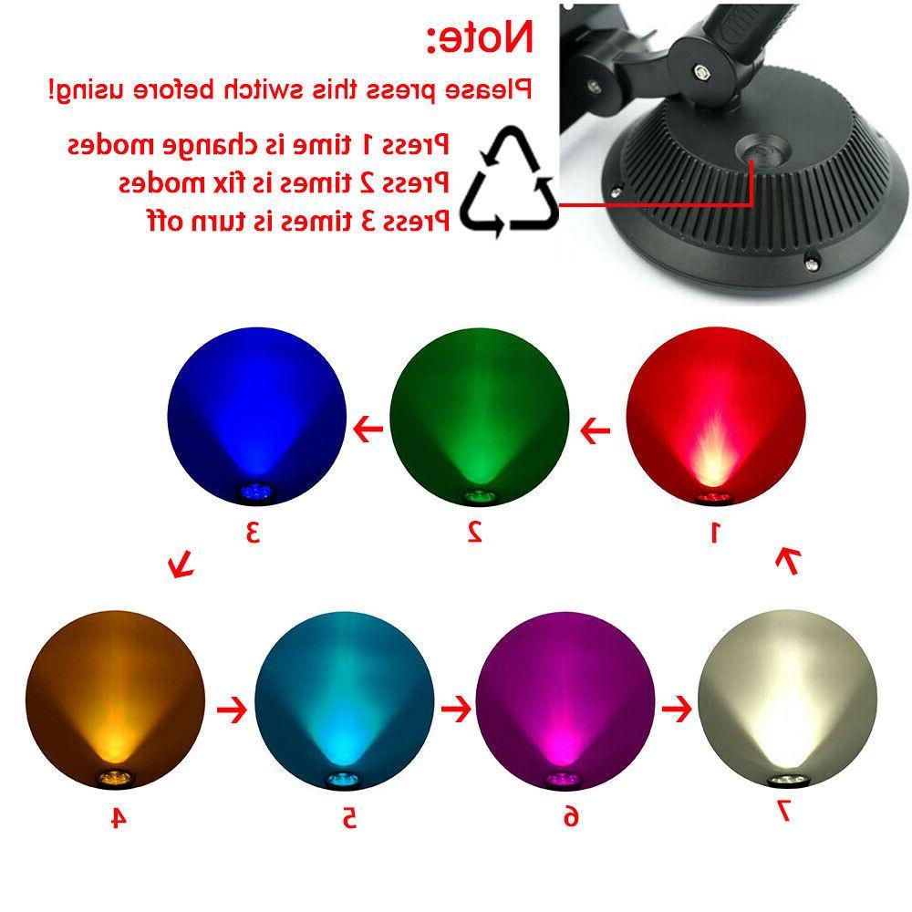 Solar Spotlights Outdoor Solar Lights Color Changing